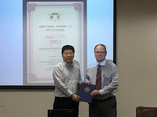 Prof. Zhang award the appointment letter to Prof. James L. Kirtley